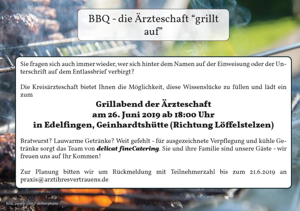 BBQ - Grillabend der Ärzteschaft Mergentheim @ Geinhartshütte